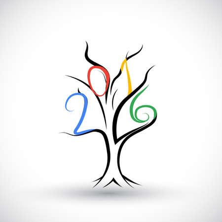 almanac: 2016 happy new year symbol