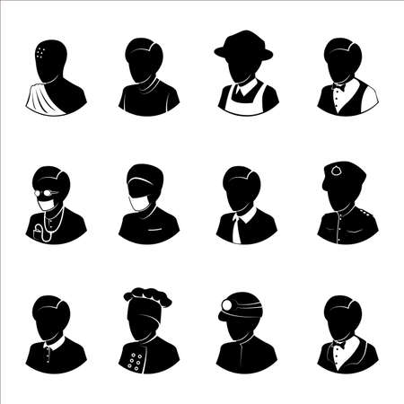 occupations: People occupations icons vector