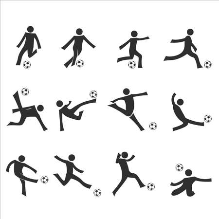 dribbling: soccer dribbling drills vector set Illustration