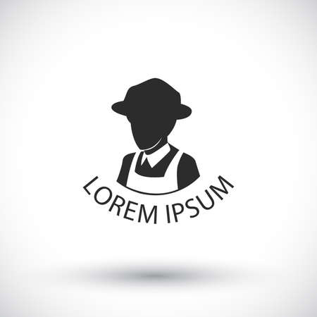 farmer sign: farmer or agriculture sign vector Illustration