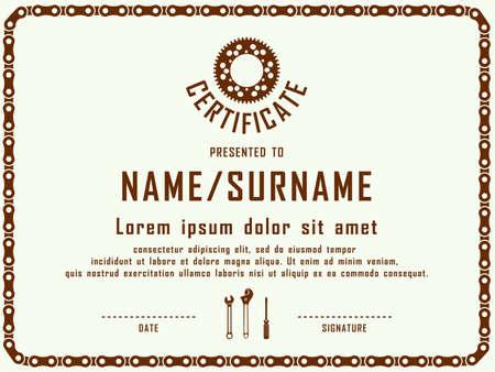 certificate template: Contemporary certificate template vector