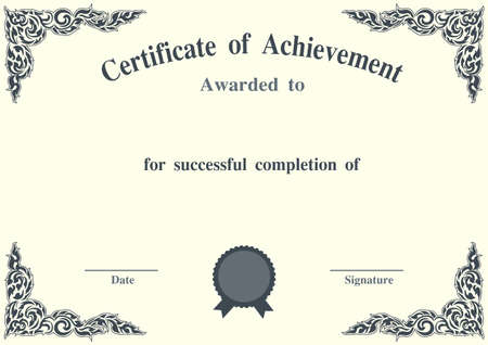 charming: Charming certificate template
