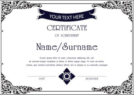 Charme modèle de certificat Banque d'images - 56799272