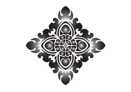 floral pattern on White background Ilustracja