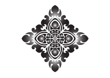 floral pattern on White background Illustration