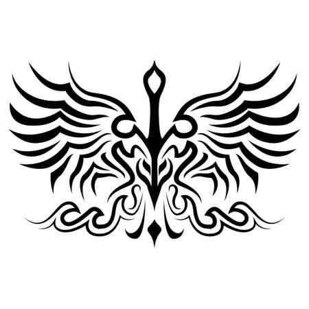 Vogel-Tattoo-Silhouette Vektor in eps 10