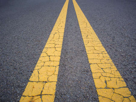 yellow line: Yellow line on road