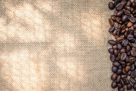 sackcloth: coffee seed on sackcloth