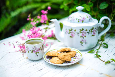 english food: English tea in garden