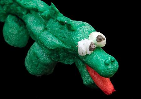The corn crocodile. Creativity of children from preschool age Stock Photo
