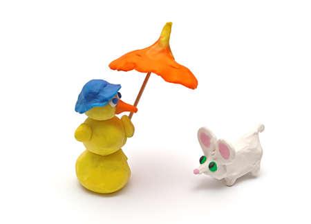 Plasticine toys. Creativity of children from preschool age