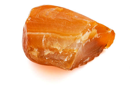 Cornelian. A stone from coast of Okhotsk sea. Stock Photo