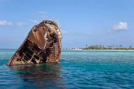 The sunk sailing vessel