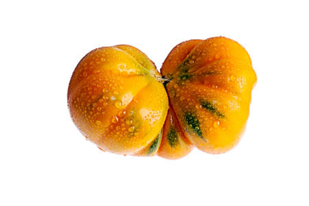Tomato mutant custom type on a white Stock Photo - 17410400