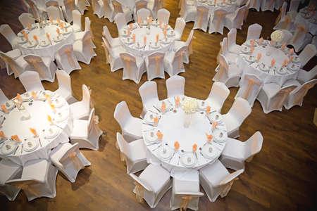 indian wedding: banqueting tables at wedding
