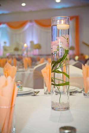 banqueting: wedding table centrepiece