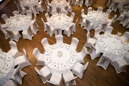 Top view of table setting