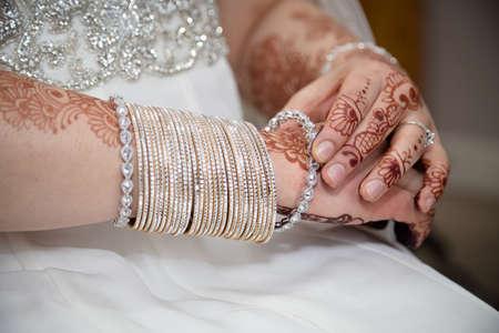 bangles hand: Putting bangles on