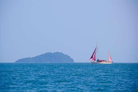 langkawi: Boat sailing amidst Langkawi islands