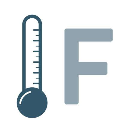 Weather forecast colorful icon. Flat termometer symbol isolated on white background. Vector illustration EPS10.