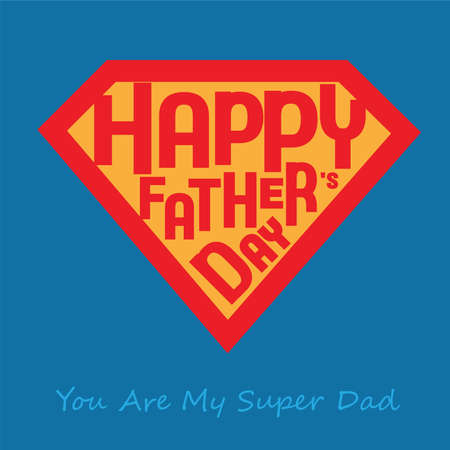 Greeting of Father day in diamond shaped Vector