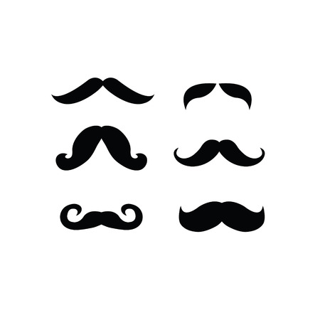 mustaches: set of mustaches