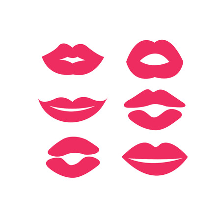 set of womans lips Vector