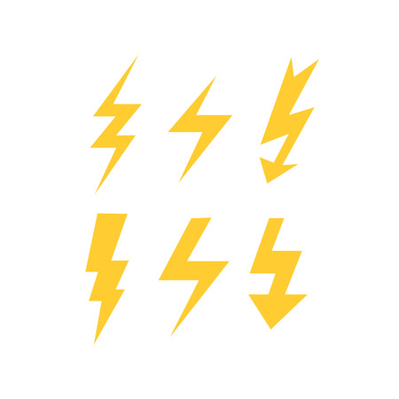 discharges: set of thunder bolts