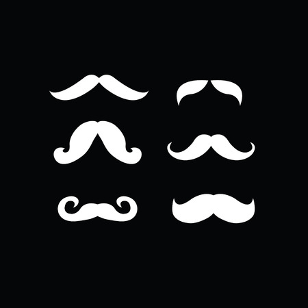 hair mask: set of mustaches