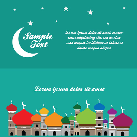 Beautiful illustration of Mosque Vector