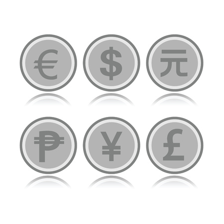 foreign: Set of foreign coins