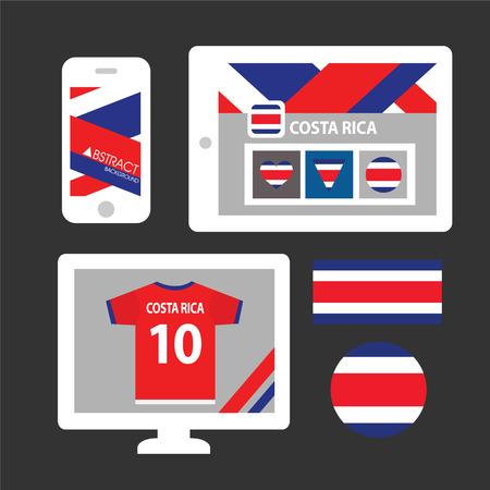 rican: Conjunto de la bandera de Costa Rica