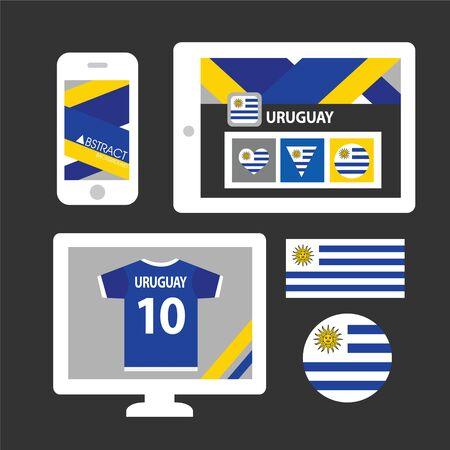 bandera de uruguay: Conjunto de la bandera de Uruguay
