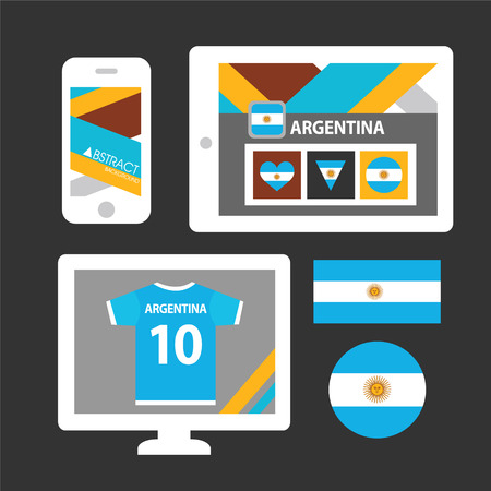 argentina flag: Set of Argentina flag