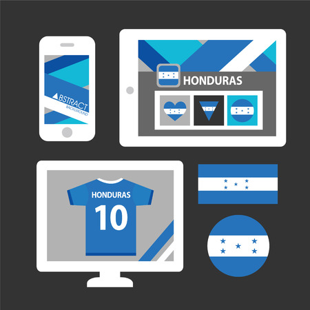 honduras: Set of Honduras flag