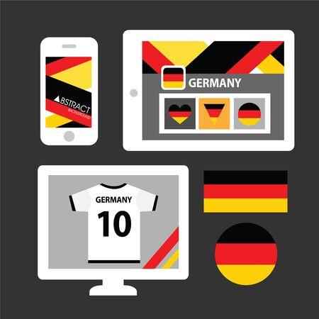 bandera alemania: Conjunto de la bandera de Alemania Vectores