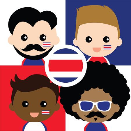 rican: Grupo de los felices aficionados de Costa Rica