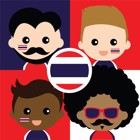 Group of happy Thailand\ Vector