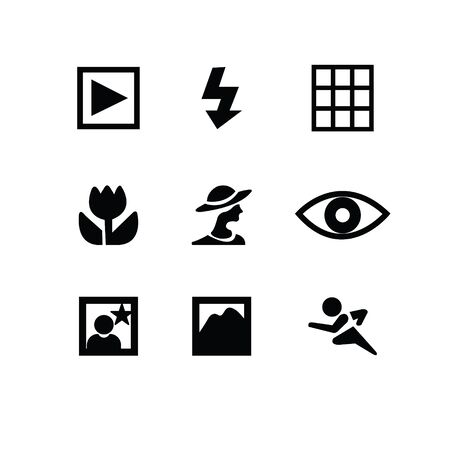 photography icons: Set of photography icons
