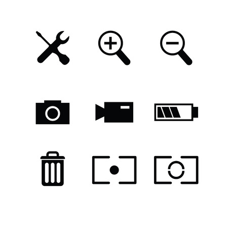 Set of photography icons