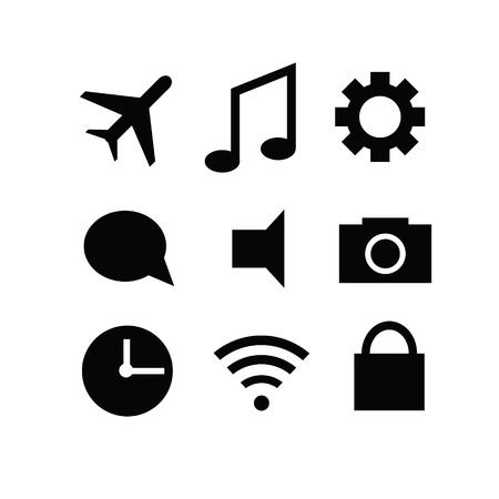 gadget: Set of modern gadget icons Illustration