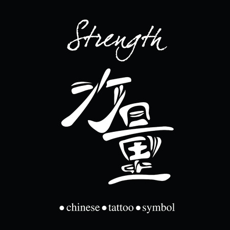 wordrn: Chinese character calligraphy for strength or power
