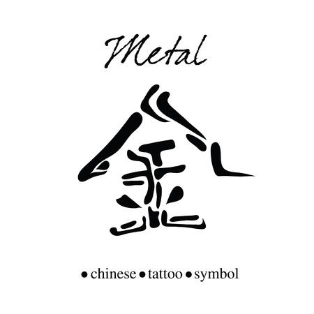 金属の中国語の文字書道