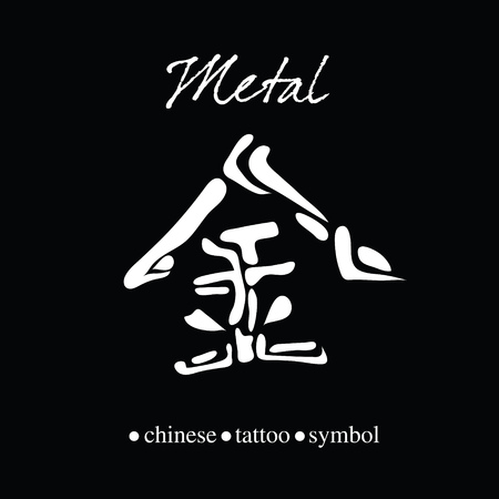 Chinese Character Calligraphy For Metal Royalty Free Cliparts