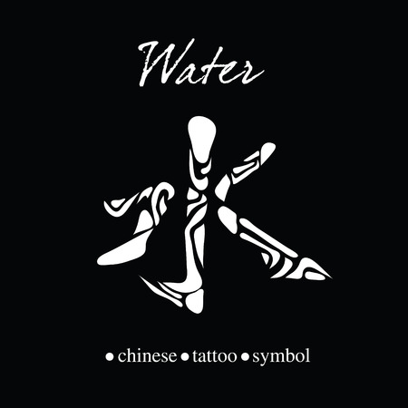Chinese Character Calligraphy For Water Royalty Free Cliparts