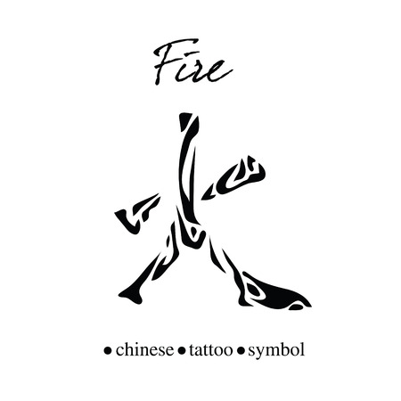 Chinese character calligraphy for fire