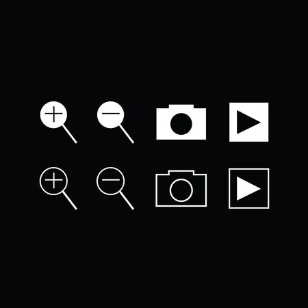 select: Set of trendy thin modern gadget icons in select and deselect