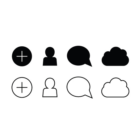 deselect: Set of trendy thin modern gadget icons in select and deselect