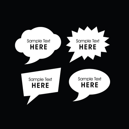 dialog baloon: Set of dialogue box Illustration