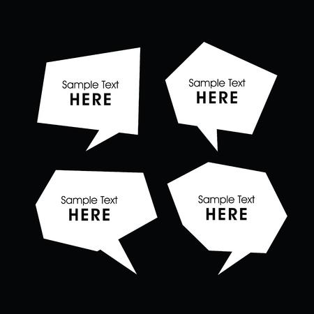 dialog baloon: Set of modern dialogue box